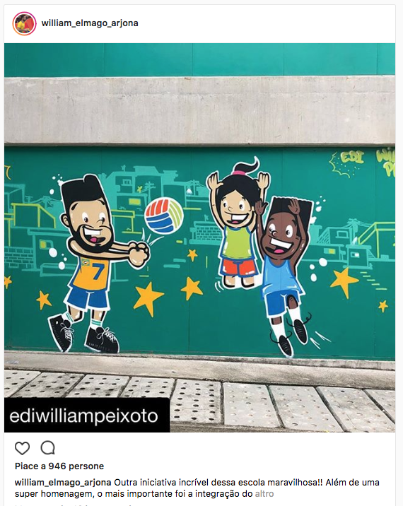 William Arjona e il murales